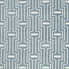 Blue/White/Slate Geometric Drapery and Upholstery Fabric by Kravet