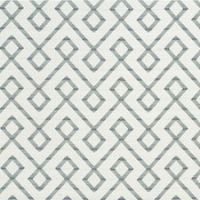 Teal/Slate/White Lattice Drapery and Upholstery Fabric by Kravet