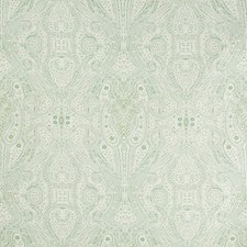 Ivory/Celery/Light Blue Paisley Drapery and Upholstery Fabric by Kravet