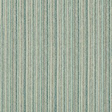 Turquoise/Beige/Blue Stripes Drapery and Upholstery Fabric by Kravet