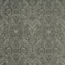 Charcoal/Ivory/Light Grey Paisley Drapery and Upholstery Fabric by Kravet