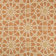 Orange/Yellow/Ivory Ethnic Drapery and Upholstery Fabric by Kravet