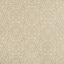 Taupe/Ivory Ethnic Drapery and Upholstery Fabric by Kravet