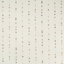 White/Bronze/Gold Dots Drapery and Upholstery Fabric by Kravet