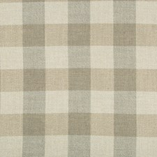 Grey/Beige/Ivory Plaid Drapery and Upholstery Fabric by Kravet