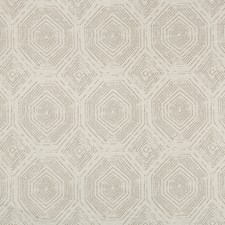 Ivory/Beige/Brown Geometric Drapery and Upholstery Fabric by Kravet