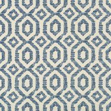 Light Grey/Blue/Indigo Geometric Drapery and Upholstery Fabric by Kravet