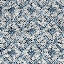 White/Indigo/Dark Blue Medallion Drapery and Upholstery Fabric by Kravet