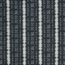 White/Indigo Ethnic Drapery and Upholstery Fabric by Kravet