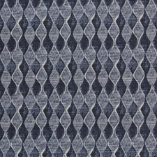 Navy Geometric Drapery and Upholstery Fabric by Kravet