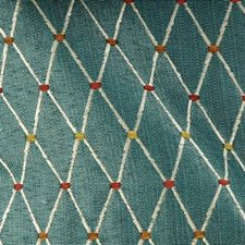 Aqua Drapery and Upholstery Fabric by Duralee