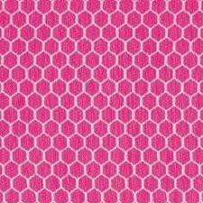 Fuschia/Pink Geometric Drapery and Upholstery Fabric by Kravet