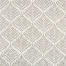 Ivory/Beige Botanical Drapery and Upholstery Fabric by Kravet