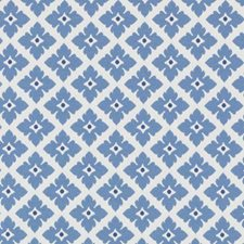 Blue Floral Small Drapery and Upholstery Fabric by Duralee