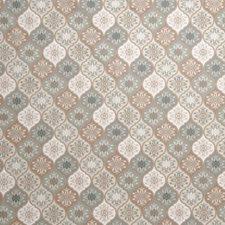 Aqua Print Pattern Drapery and Upholstery Fabric by Fabricut