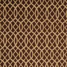 Umber Lattice Drapery and Upholstery Fabric by Fabricut