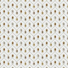 Ivory/Gold/Brown Lattice Drapery and Upholstery Fabric by Kravet