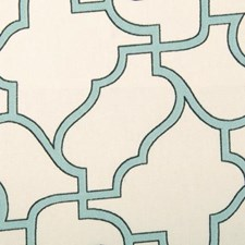 Aquamarine Geometric Drapery and Upholstery Fabric by Duralee