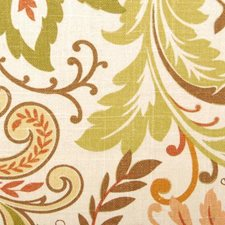 Terra/green Drapery and Upholstery Fabric by Duralee