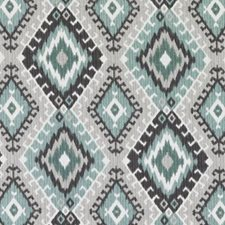 Turquoise/cocoa Drapery and Upholstery Fabric by Duralee