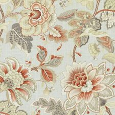 Jade Floral Large Drapery and Upholstery Fabric by Duralee