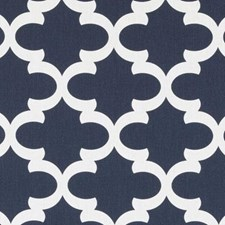 Denim Medallion Drapery and Upholstery Fabric by Duralee