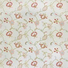 Blush Embroidery Drapery and Upholstery Fabric by Trend