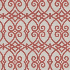 Coral Reef Geometric Drapery and Upholstery Fabric by Trend