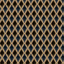 Blue Topaz Diamond Drapery and Upholstery Fabric by Stroheim