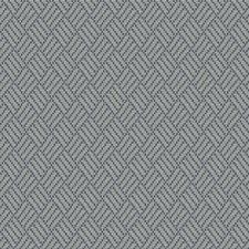 Blue Topaz Geometric Drapery and Upholstery Fabric by Stroheim