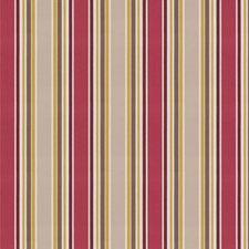 Raspberry Stripes Drapery and Upholstery Fabric by Stroheim