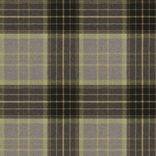 Lime Check Drapery and Upholstery Fabric by Stroheim