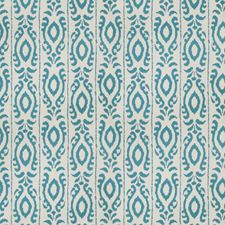 Turquoise Global Drapery and Upholstery Fabric by Stroheim