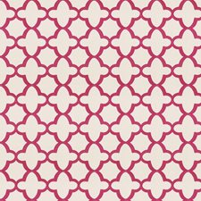 Pink Geometric Drapery and Upholstery Fabric by Stroheim