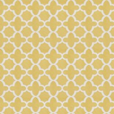 Yellow Geometric Drapery and Upholstery Fabric by Stroheim