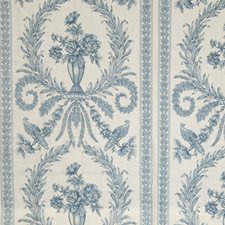 Blue Animal Drapery and Upholstery Fabric by Vervain