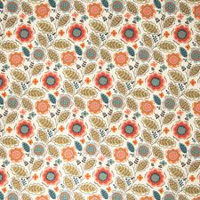 Celery Floral Drapery and Upholstery Fabric by Vervain