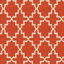 Orange Crush Geometric Drapery and Upholstery Fabric by S. Harris