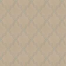 Aqua Haze Lattice Drapery and Upholstery Fabric by Fabricut