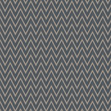 Navy Chevron Drapery and Upholstery Fabric by Trend