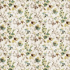 Aqua Cloud Floral Drapery and Upholstery Fabric by Trend