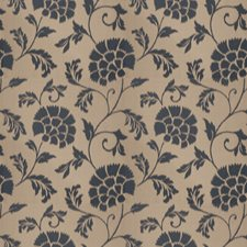 Sapphire Floral Drapery and Upholstery Fabric by Stroheim