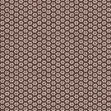 Brown Geometric Drapery and Upholstery Fabric by Stroheim