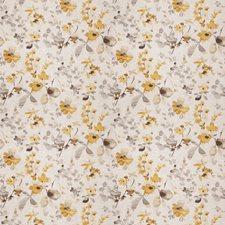 Yellow Grey Floral Drapery and Upholstery Fabric by Trend