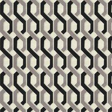 Coal Geometric Drapery and Upholstery Fabric by Fabricut