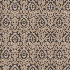 Navy Sparkle Damask Drapery and Upholstery Fabric by Fabricut