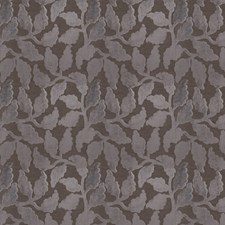 Grey Leaves Drapery and Upholstery Fabric by Fabricut