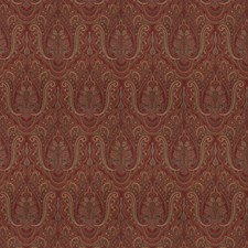 Claret Paisley Drapery and Upholstery Fabric by Stroheim