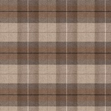Mocha Check Drapery and Upholstery Fabric by Stroheim