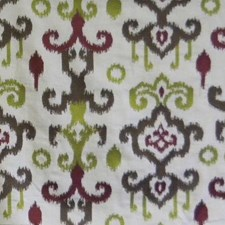Cocoa/crimson/c Drapery and Upholstery Fabric by B. Berger